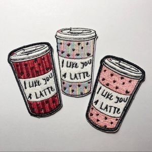 Accessories - ☕️I Like You a Latte Hearts Coffee Cup Patch☕️